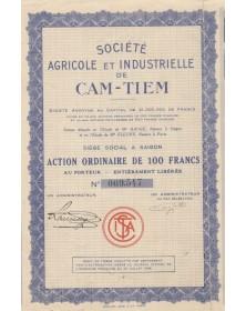 Sté Agricole et Industrielle de Cam-Tiem