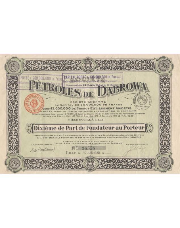 Oil Sté des Pétroles de Dabrowa