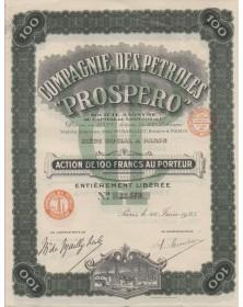 Cie des Pétroles ''Prospero''