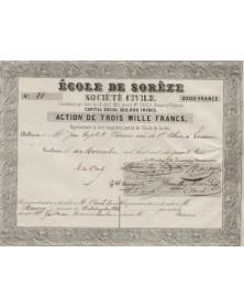 Ecole de Sorèze (Tarn), Société Civile - Action de 3000F 1864