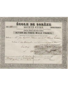 Midi-Pyrénées/Tarn 81 Ecole de Sorèze (Tarn), Société Civile Action de 3000F 1864