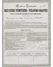 Sté en Commandité des Cuirs Vénitiens et Velours Gravés