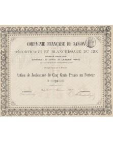 Cie Française de Saïgon pour le Décorticage et Blanchissage du Riz
