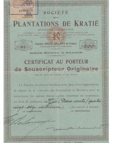 Sté des Plantations de Kratié