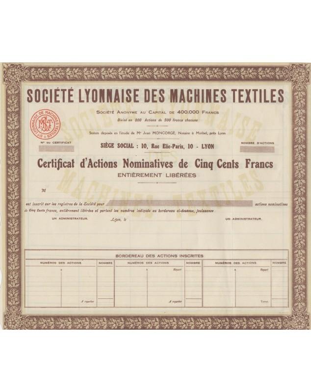 Sté Lyonnaise des Machines Textiles