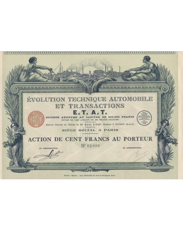 E.T.A.T Evolution Technique Automobile et Transactions