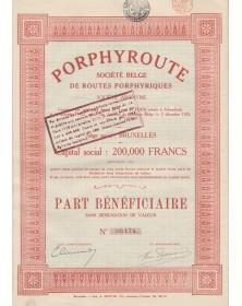 Porphyre, Sté Belge de Routes Porphyriques