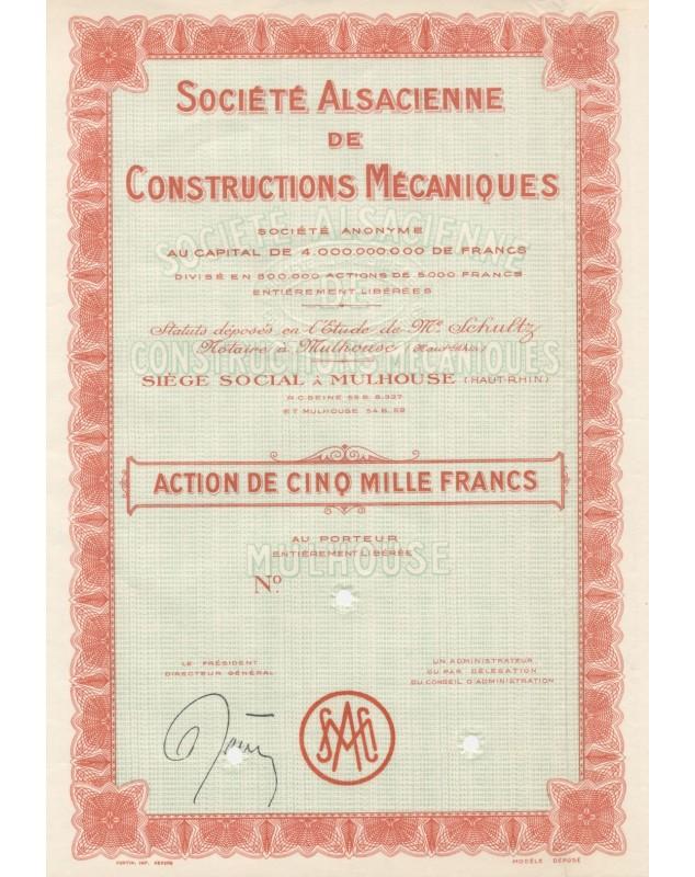 Sté Alsacienne de Constructions mécaniques