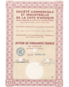 C.I.C.A. Sté Commerciale et Industrielle de la Côte d'Afrique