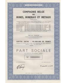 Cie Belge des Mines, Minerais et Métaux