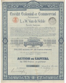 Crédit Colonial et Commercial anciennement L. & W. Van de Velde