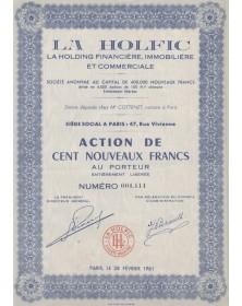 La Holfic La Holding Financière, Immobilière et Commerciale