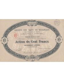 Sté des Eaux de Buzançais Fernand Neuville & Cie