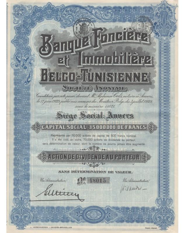 Banque Foncière et Immobilière Belgo-Tunisienne
