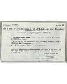 Sté d'Impression et d'Edition du Centre
