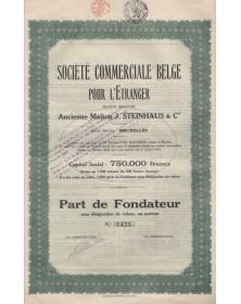 Sté Commerciale Belge pour l'Etranger, Ancienne Maison J. Steinhaus