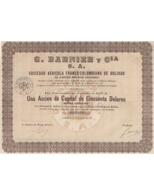 G. Barnier Y Cia S.A. Soc. Agricola Franco-Colombiana de Bolivar