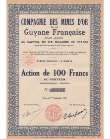 Cie des Mines d'Or de la Guyane Française