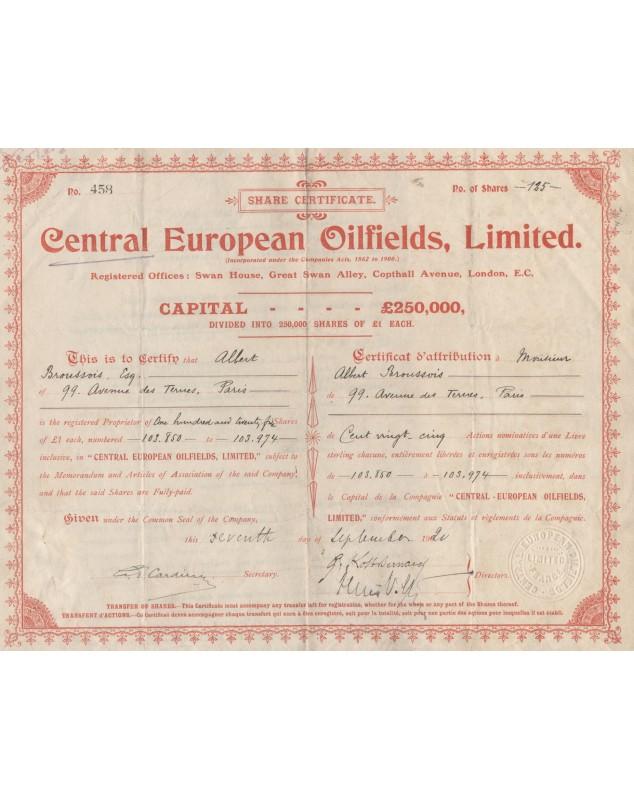 Central European Oilfields, Ltd.
