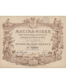 Macina-Niger, S.A. Française de Colonisation