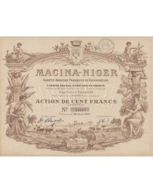 Macina-Niger -Sté Fse de Colonisation