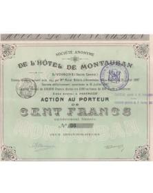 Sté de l'Hôtel de Montauban S/Voirons (Haute-Savoie)