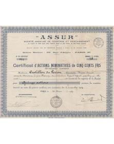 """""""Assur"""", S.A. de Courtage et d'Encaissement"""
