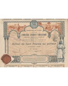 Régence de Tunis, Sté Foncière Franco-Tunisienne Hypothécaire, Immobilière & de Colonisation