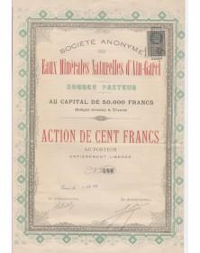 S.A. des Eaux Minérales d'Aïn-Garci, Source Pasteur