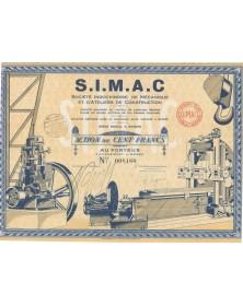 Sté Indochinoise de Mécanique et d'Ateliers de Construction S.I.M.A.C.