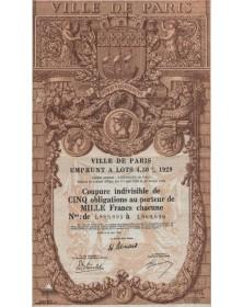 City of Paris - 4,5% Loan 1929