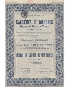 Sté Générale de Carrières de Marbre Pierres et Fours à Chaux