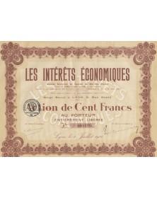 Les Intérêts Economiques