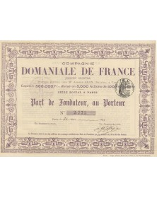 Cie Domaniale de France