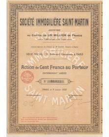 Sté Immobilière Saint-Martin