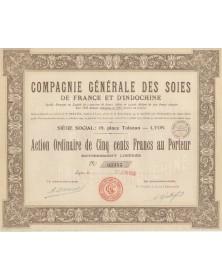 Cie Générale des Soies de France et d'Indochine