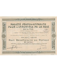 Ste Franco-Annamite pour l'Industrie de la Soie (S.F.A.T.E.)