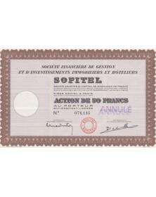 SOFITEL, Sté Financière de Gestion et d'Investissements Immobiliers et Hôteliers