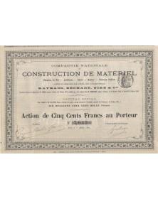 Cie Nationale de Construction de Matériel Chemins de Fer, Artillerie, ... Raynaud, Béchade, Gire & Cie