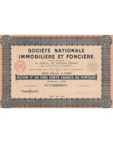 Sté Nationale Immobilière et Foncière (SNIF)