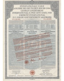 German Government International Loan. Internationale 5.5% Anleihe des Deutschen Reichs 1930