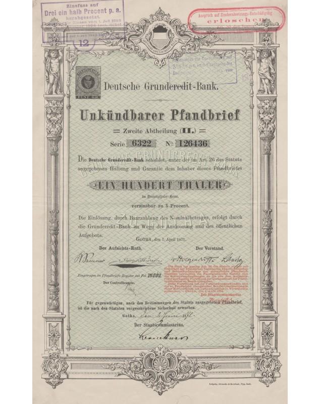 Deutsche Grundcredit-Bank Undündbarer Pfandbrief