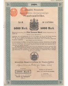 Königlich Preussische 3% Staatsanleihe