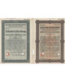 AnleiheablösungsSchuld des Deutschen Reichs 1925 - 12,50 RMarks
