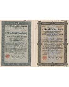 AnleiheablösungsSchuld des Deutschen Reichs 1925 - 200 RMarks