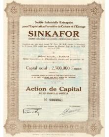 SINKAFOR, Sté Industrielle Katangaise pour l'Exploitation Forestière de Culture et d'Elevage