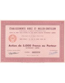 Etablissements Bidez et Haller Châtillon