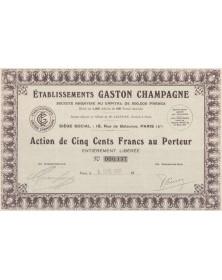 Ets Gaston Champagne