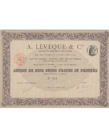 A. Levéque & Cie (Banque)
