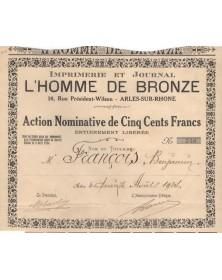 Imprimerie et Journal L'Homme de Bronze